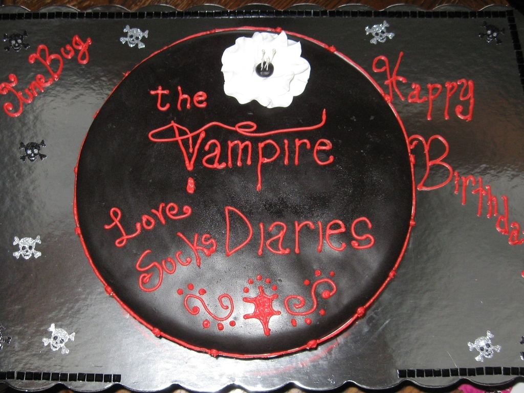 The Vampire Diaries Cake Cakecentral