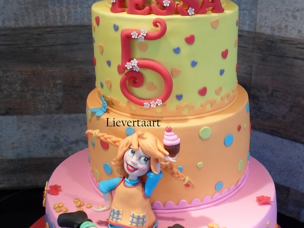 Pippi Longstocking Cake For A 5 Year Old Girl Cakecentral