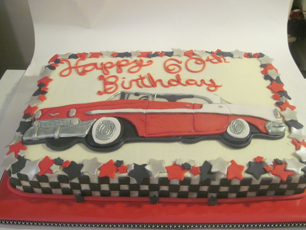 56 Chevy Bel Air Birthday Cake CakeCentralcom