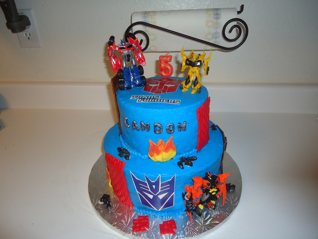 Groovy Transformer Cake Cakecentral Com Personalised Birthday Cards Paralily Jamesorg