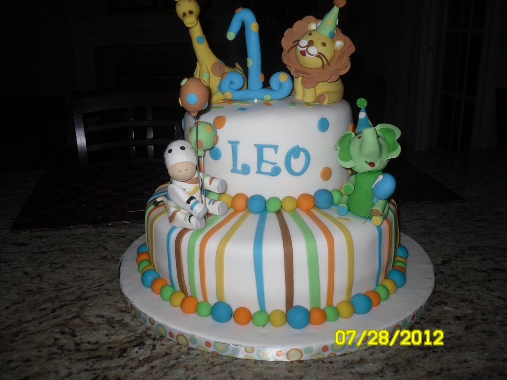 Animals Baby Boy Sweet One Cakecentral