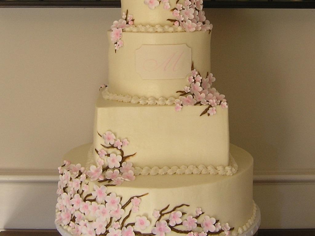 Cherry Blossom Buttercream Wedding - CakeCentral.com