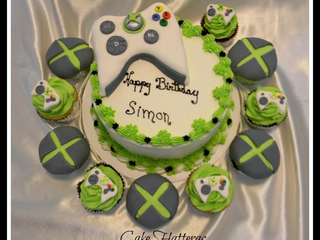 Xbox 360 Cake And Cupcakes CakeCentralcom
