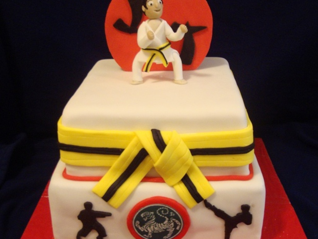 Excellent Karate Birthday Cake Cakecentral Com Birthday Cards Printable Trancafe Filternl