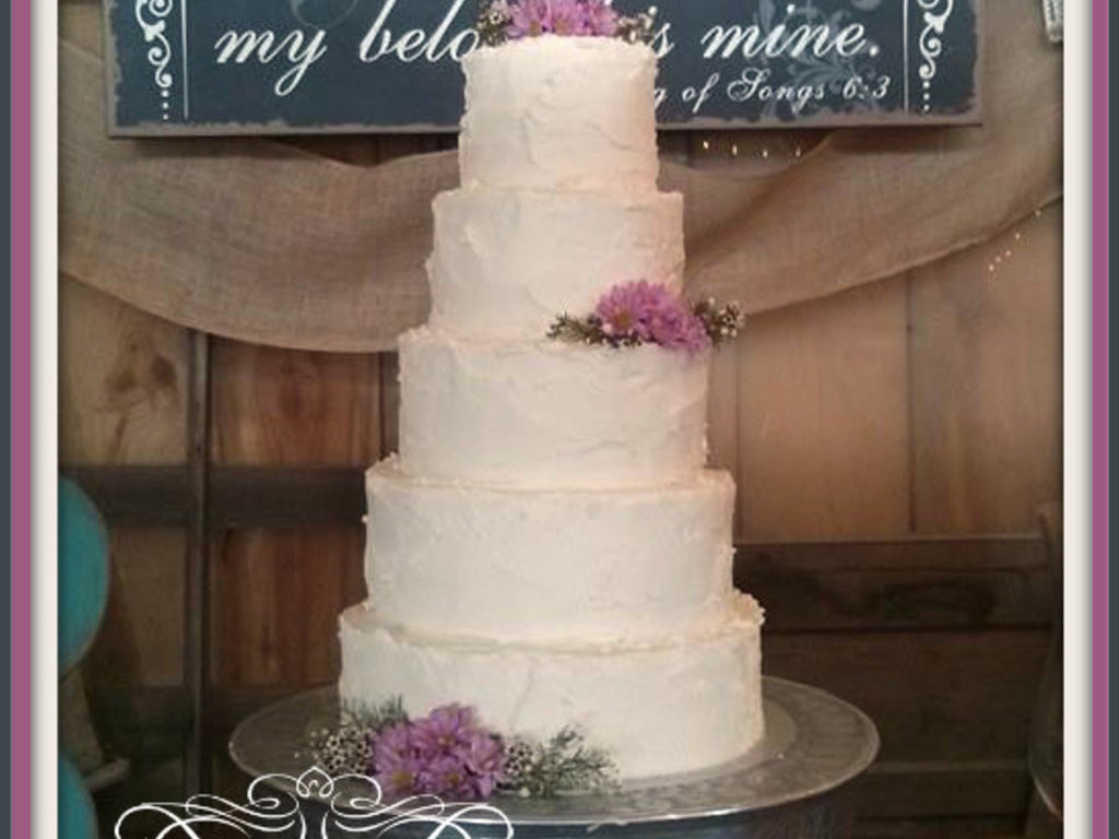 5 Tier Rustic Chic Wedding Cake - CakeCentral.com