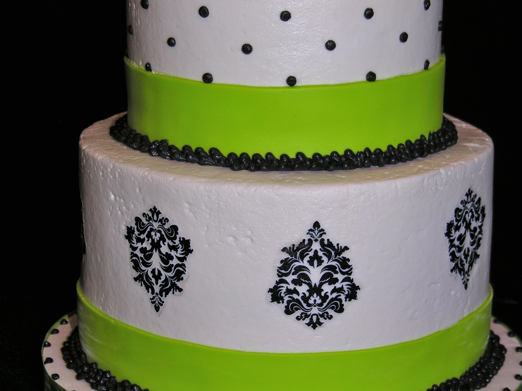 Black White And Lime Green 40th Birthday Cake Cakecentral