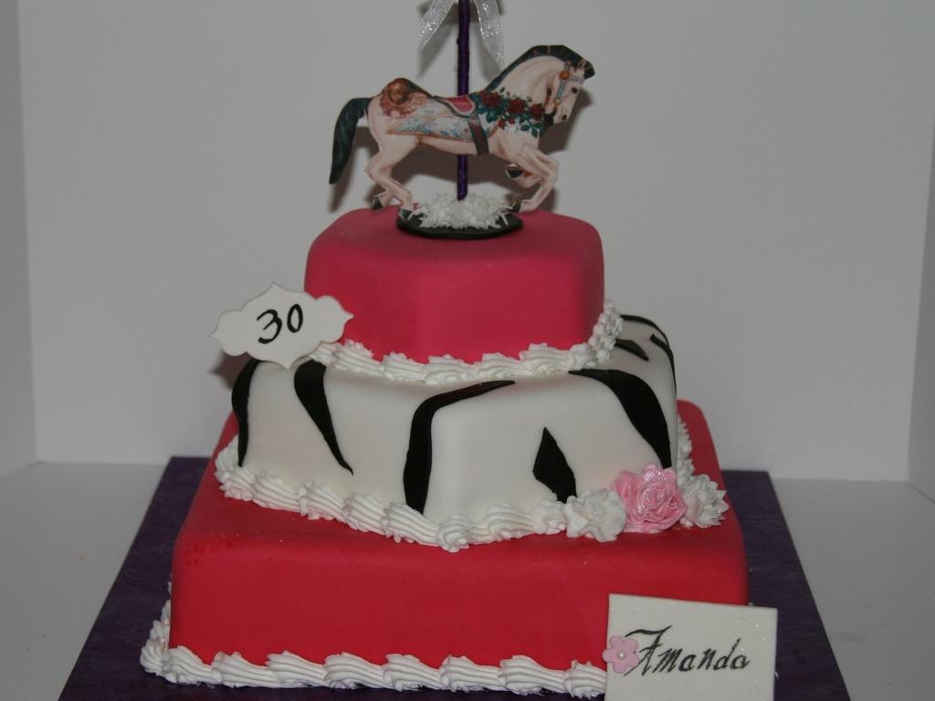 Carousel Horse Birthday Cake Cakecentral Com