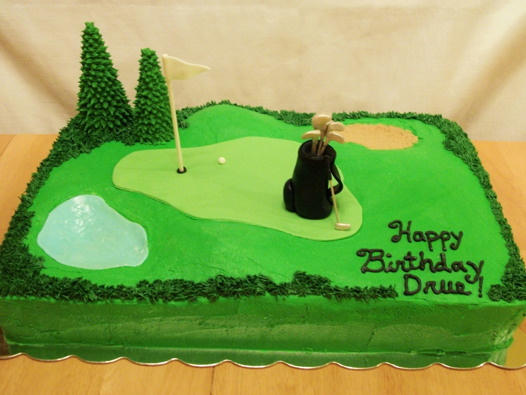 Brilliant Golf Themed Birthday Cake Cakecentral Com Funny Birthday Cards Online Aeocydamsfinfo