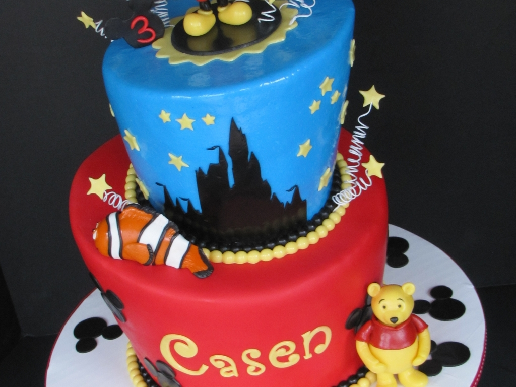 Astounding Walt Disney World Birthday Cake Cakecentral Com Personalised Birthday Cards Veneteletsinfo