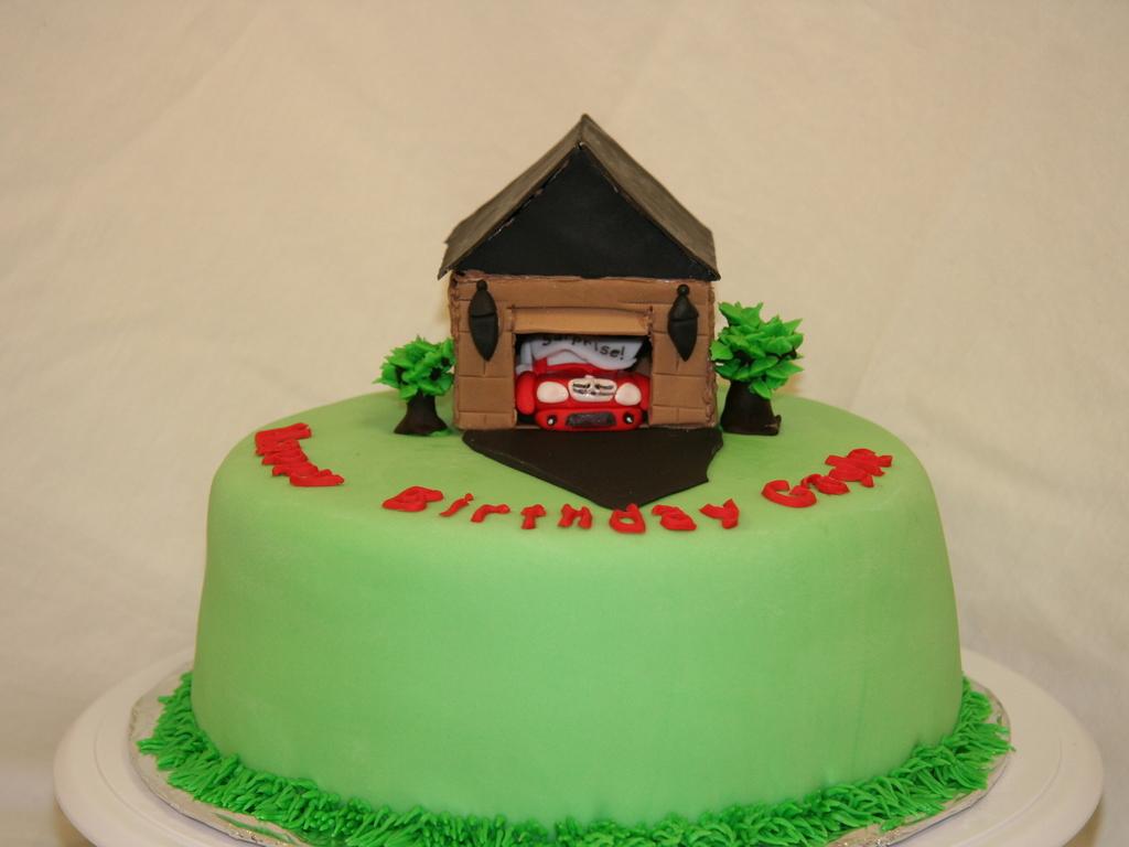 Fondant Birthday Cake With A Gum Paste Mercedes Benz CakeCentralcom