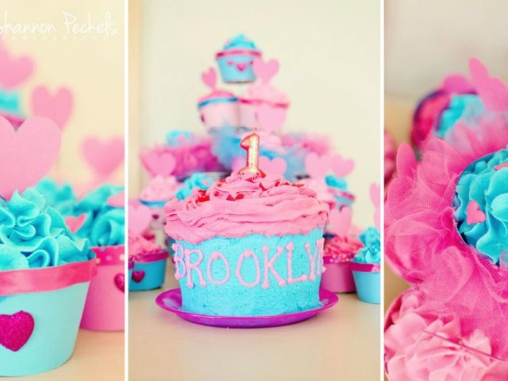 1st Birthday Cupcakes Hearts And Tutus Themed Handmade