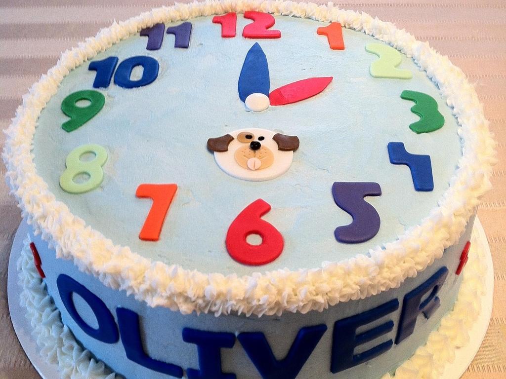 Toddler Clock Birthday Cake Cakecentral