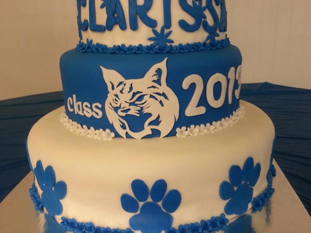 Bobcat Graduation Cake CakeCentralcom