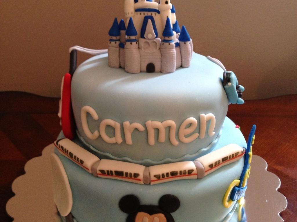 Walt Disney World Theme Tiered Cake