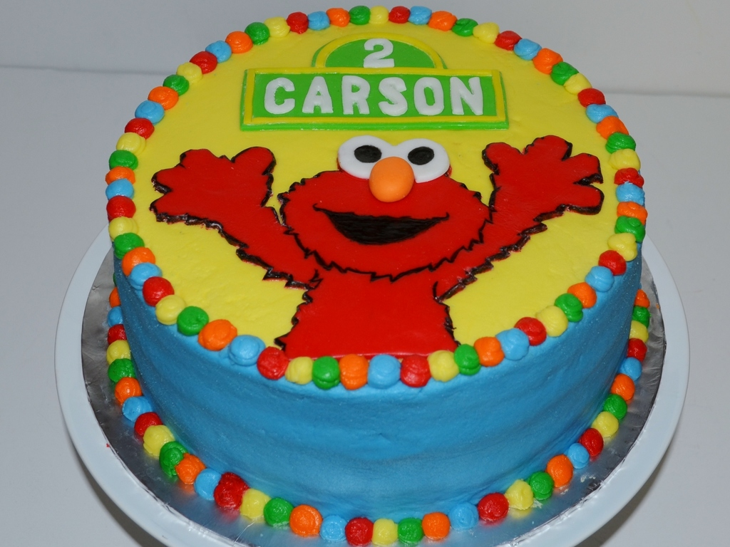 Elmo Birthday Cake Carrot Cake With Cream Cheese Frosting