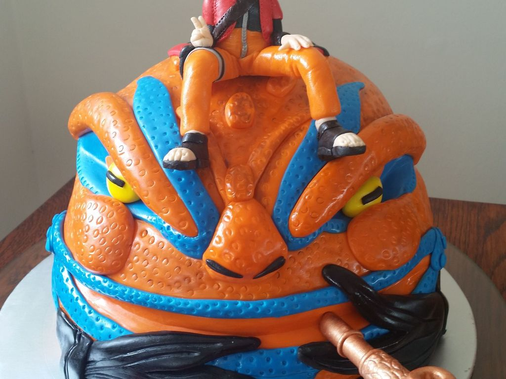 Cool Naruto Anime Cake For Dans 30Th Cakecentral Com Funny Birthday Cards Online Inifodamsfinfo
