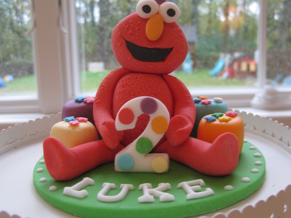 Birthday Elmo Cake Topper