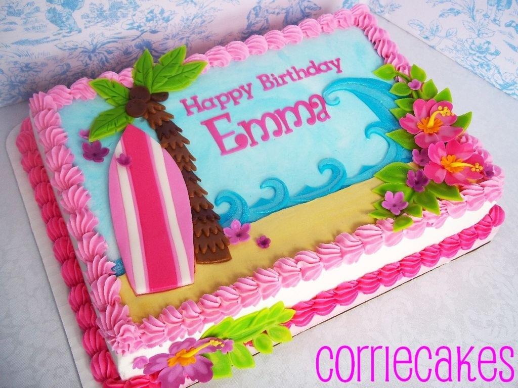 Hawaii/surfboard - CakeCentral.com