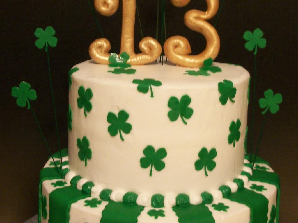 Incredible Shamrock Themed Birthday Cake Cakecentral Com Birthday Cards Printable Trancafe Filternl
