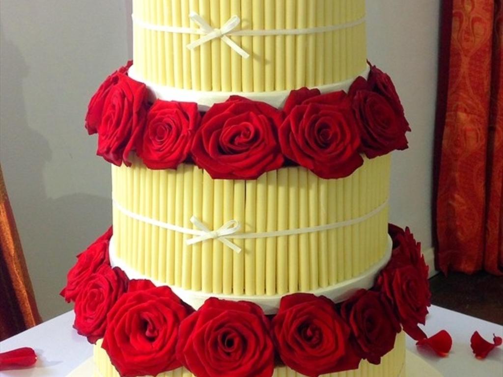 White Chocolate Cigarello Wedding Cake Recipe - 5000+ Simple Wedding ...