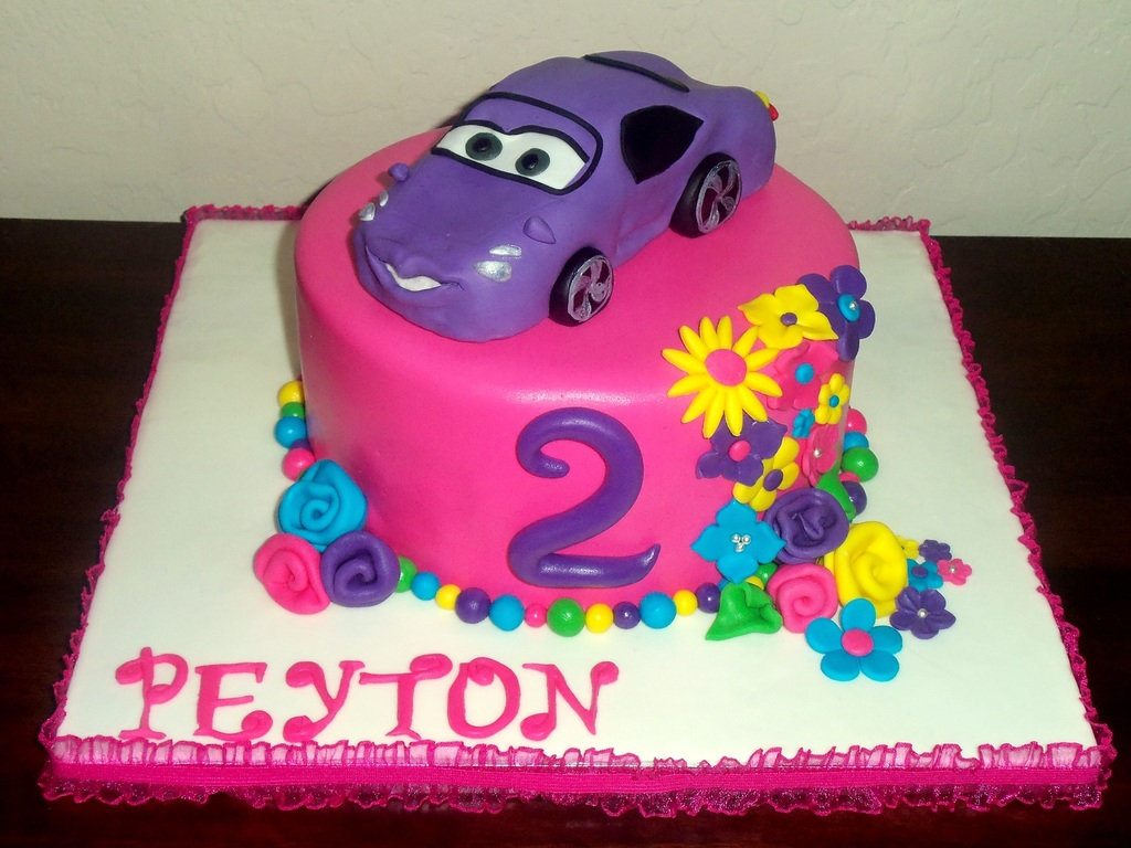 Cars 2 Girly Cake - CakeCentral.com