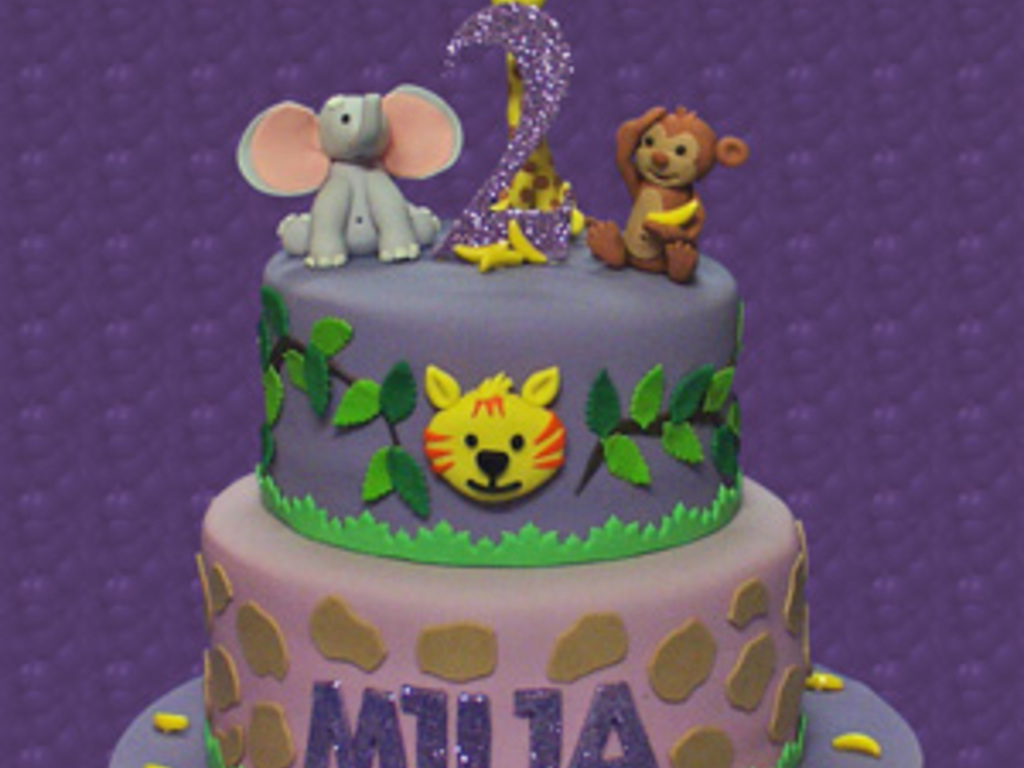 Jungle Themed 2Nd Birthday Cake