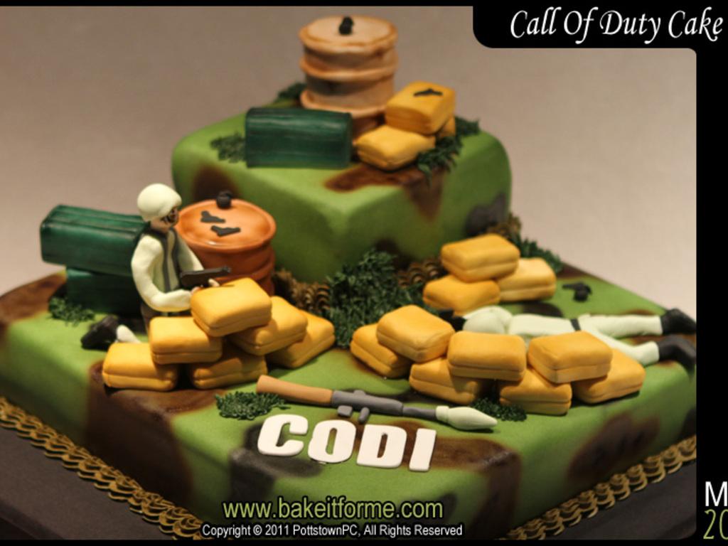 Call Of Duty Birthday Cake Cakecentralcom Call Of Duty Cake