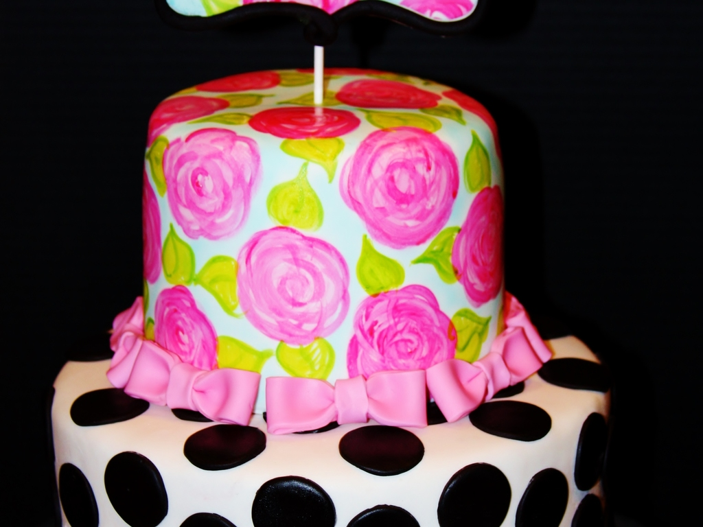 Lilly PulitzerKate Spade Inspired Cake CakeCentralcom