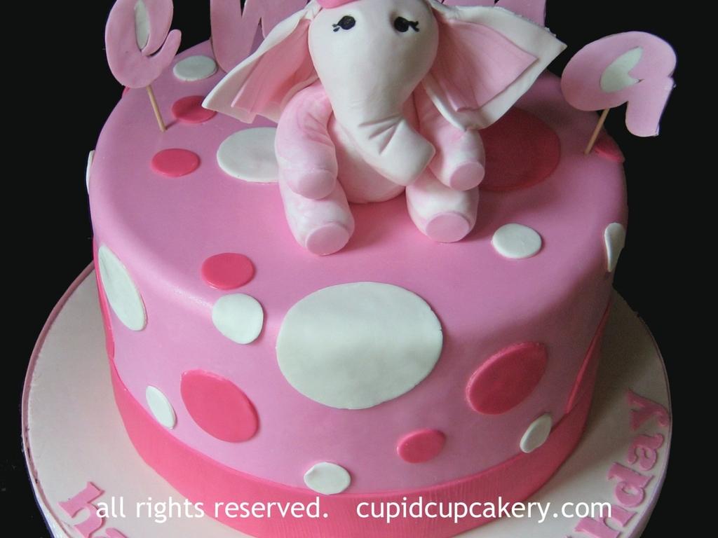 Phenomenal Pink Elephant Birthday Cake Cakecentral Com Funny Birthday Cards Online Necthendildamsfinfo
