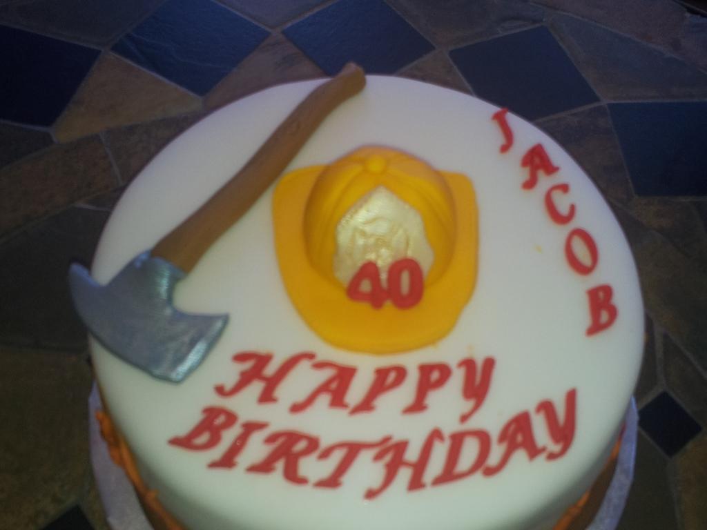 40th Bday Fireman Cake Cakecentralcom