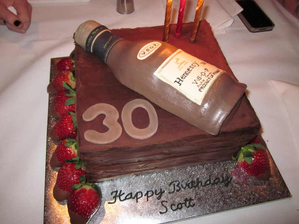 Hennessy Cognac 30Th Birthday Cake - CakeCentral.com