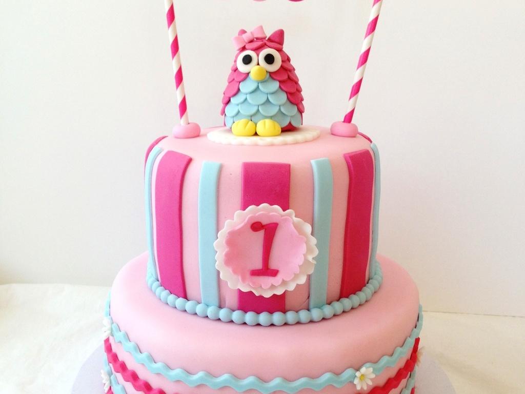 Tremendous Owl 1St Birthday Cakecentral Com Funny Birthday Cards Online Amentibdeldamsfinfo