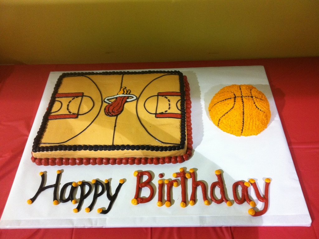 Miami Heat Basketball Birthday Cakes Cakecentral Com