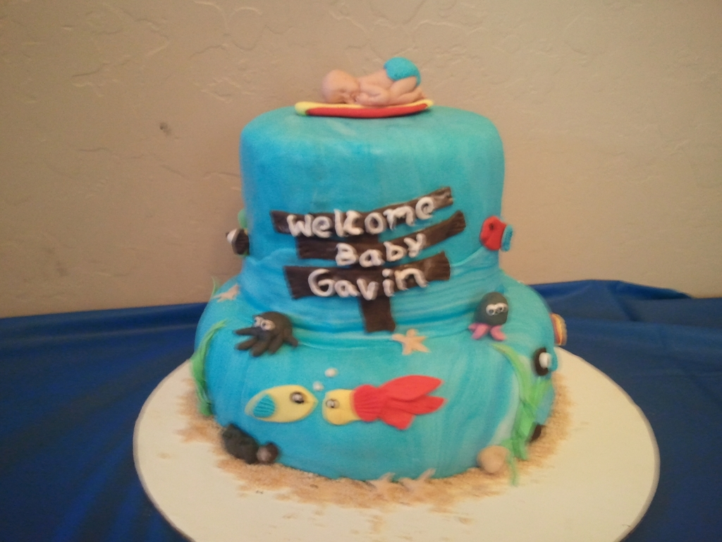 Under Water Theme Baby Shower Cake Cakecentral