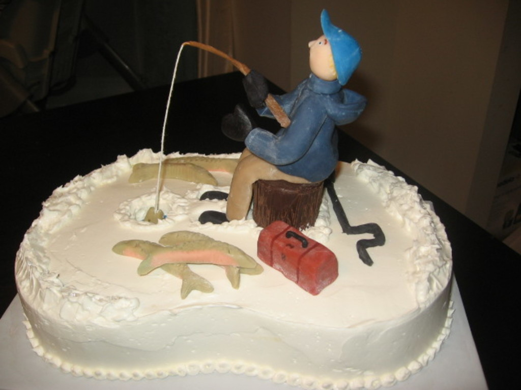 Stupendous Ice Fishing Cake Cakecentral Com Personalised Birthday Cards Epsylily Jamesorg