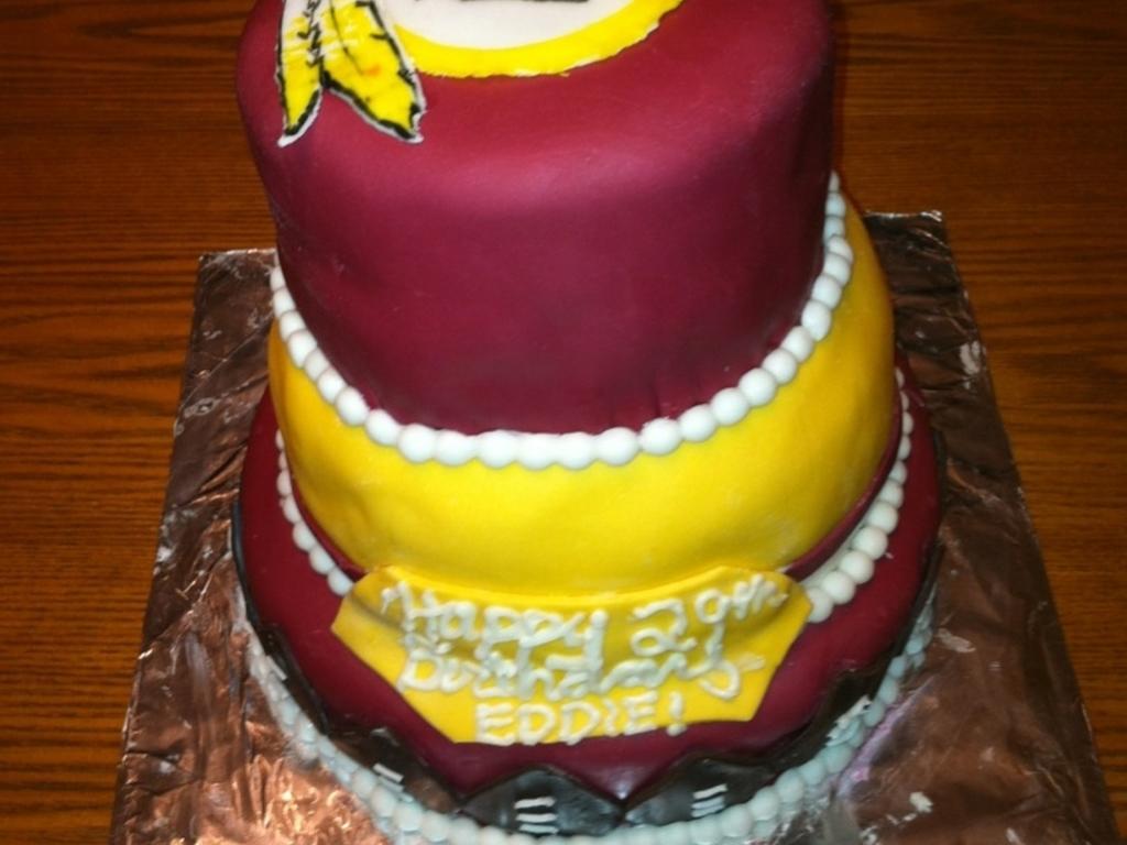 Washington Redskins Birthday Cake CakeCentralcom