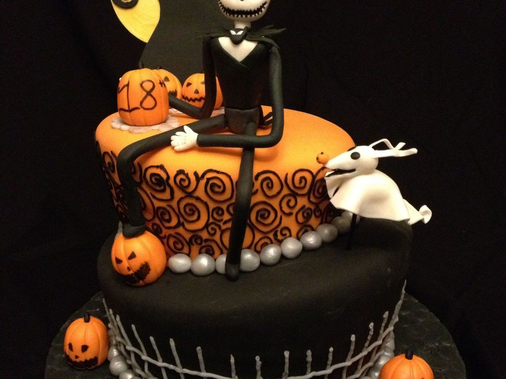 Nightmare Before Christmas Themed Birthday Cake This Design Was