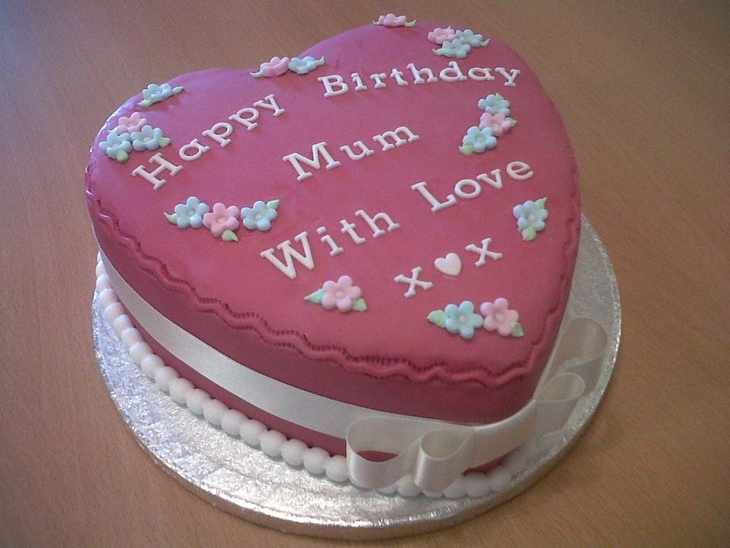 Mum Heart Birthday Cake Cakecentral