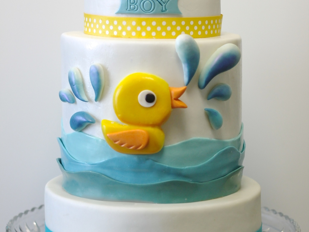 Duck Themed Baby Shower Cakes ~ Baby shower cake pictures lovetoknow