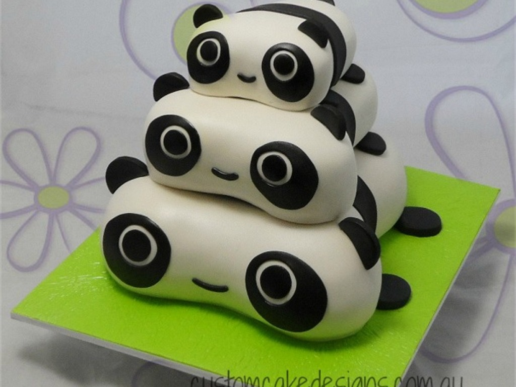 This Cute Little Pile Of Pandas Was Made At The Request Of My Client