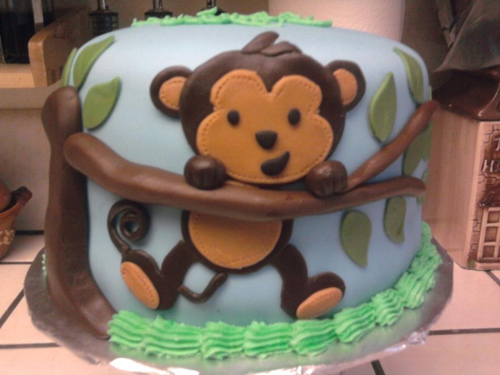 Monkey Birthday Cake Cakecentral