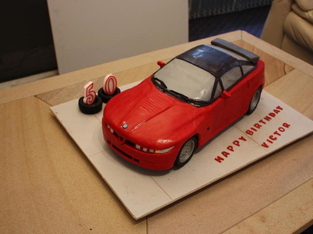 Alfa Romeo Sz Cake For My Husbands Birthday The Car Is A Chocolate