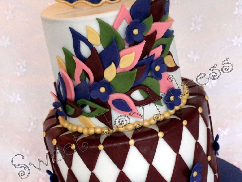 Stupendous Jewel Tone Birthday Cake Cakecentral Com Funny Birthday Cards Online Unhofree Goldxyz