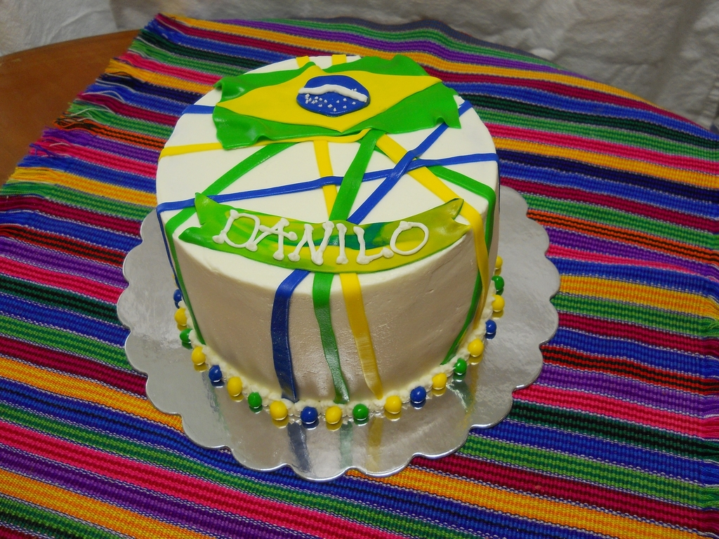 Outstanding Brazilian Flag Cake Cakecentral Com Funny Birthday Cards Online Inifodamsfinfo