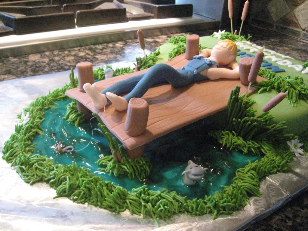 Astonishing Lazy Fishing Birthday Cake Cakecentral Com Funny Birthday Cards Online Eattedamsfinfo
