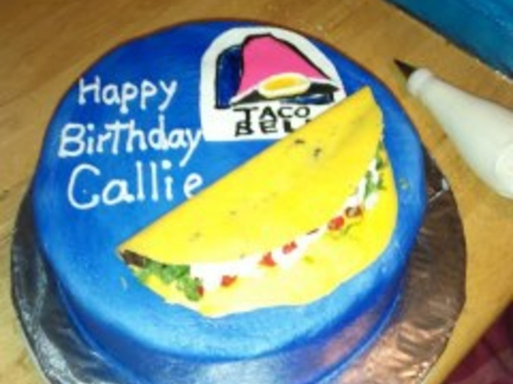 Superb Taco Bell Cake For 14 Year Old All Edible Cakecentral Com Personalised Birthday Cards Epsylily Jamesorg