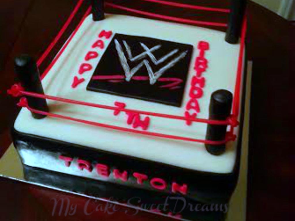 Marvelous Wwe Birthday Cake Cakecentral Com Personalised Birthday Cards Akebfashionlily Jamesorg