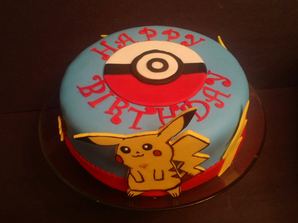 Pokemon Cake Rootbeer With Buttercream From Extract Mmf And Tappit Lettters