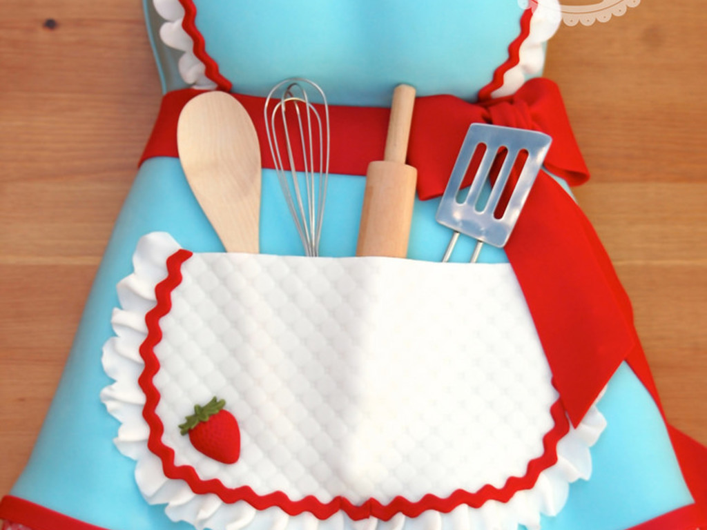 Apron Kitchen Tea Bridal Shower Cake Cakecentral Com