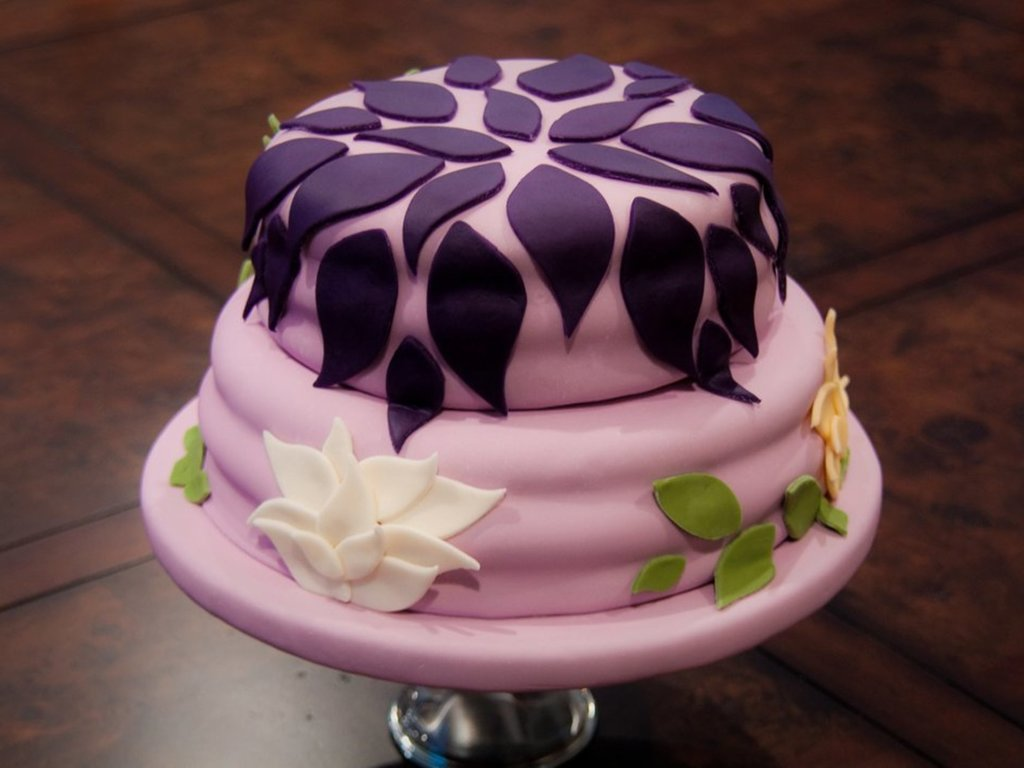 Purple Flower Birthday Cake Cakecentral